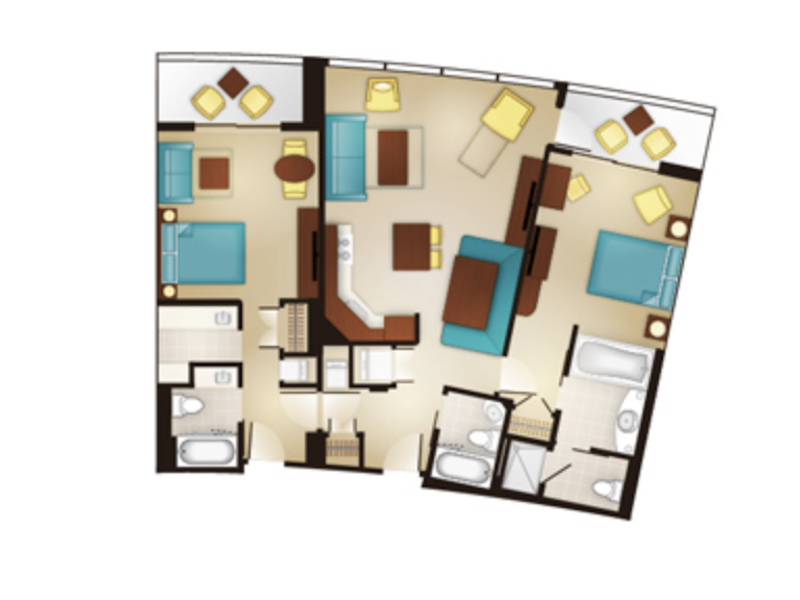 Two Bedroom Villa floor plan