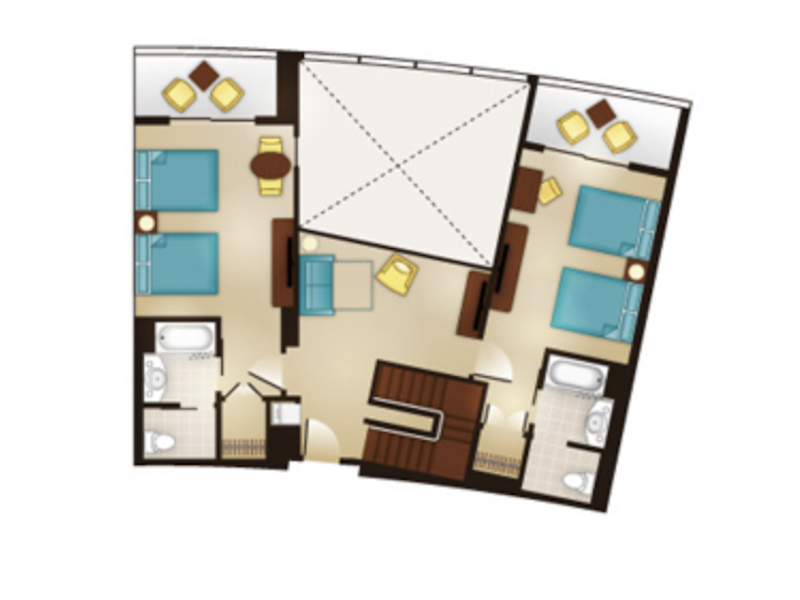 Three Bedroom Grand Villa floor plan - second floor