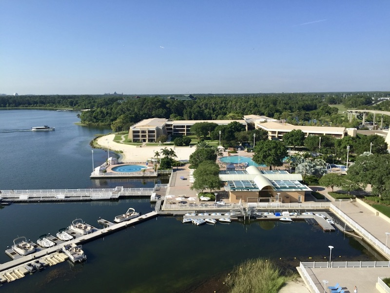 Contemporary marina and main pool