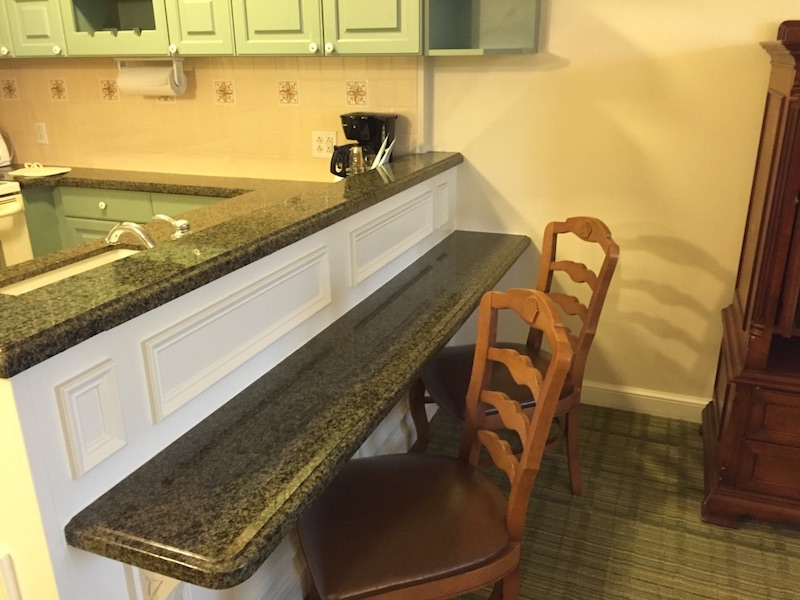 Breakfast bar with two chairs