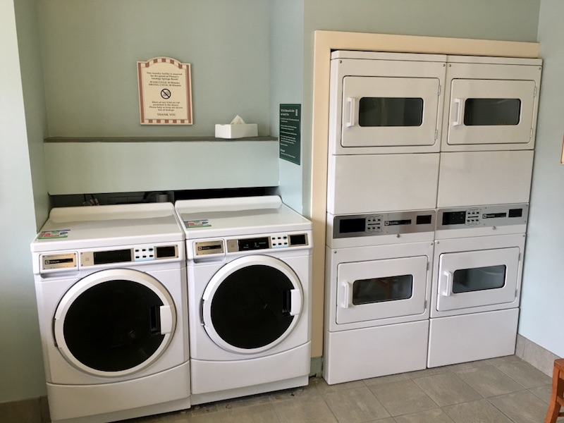Public laundry facilities (located near each resort pool)