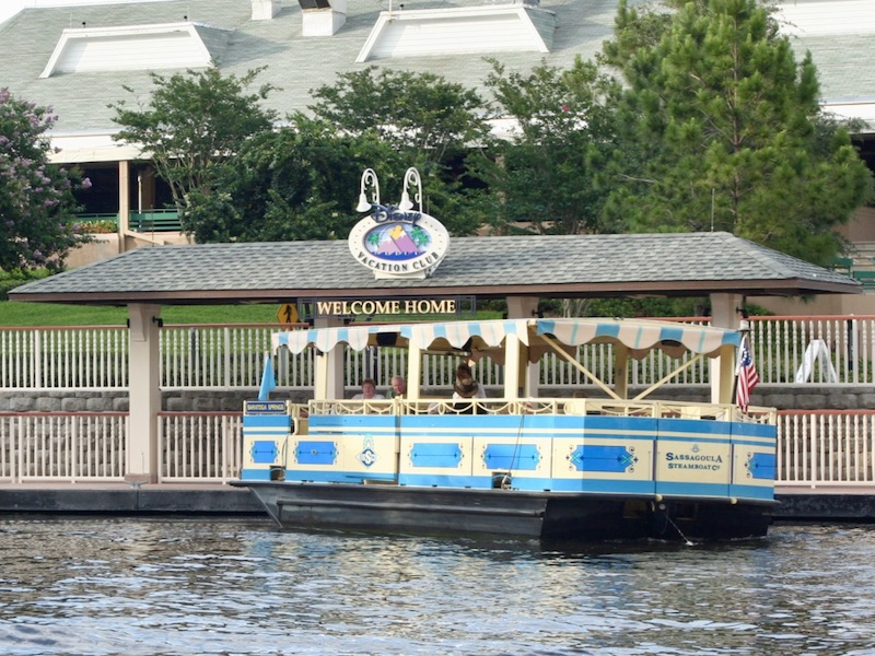 Boat dock offering service to Disney Springs