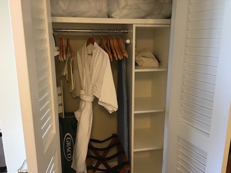 Closet (hangers, ironing board and robe provided)