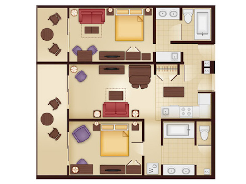 Jambo House Two Bedroom Villa floor plan