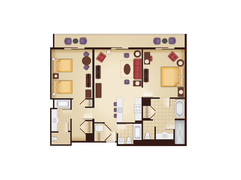 Kidani Village Dedicated Two Bedroom Villa floor plan