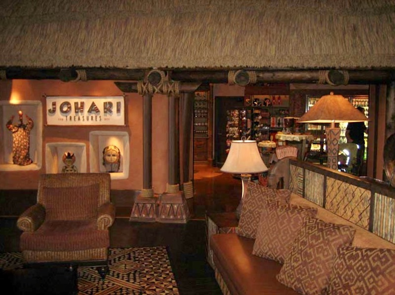 Lobby seating and entrance to Johari Treasures
