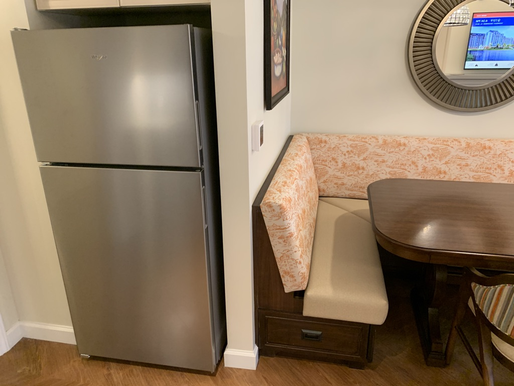 Refrigerator and dining table