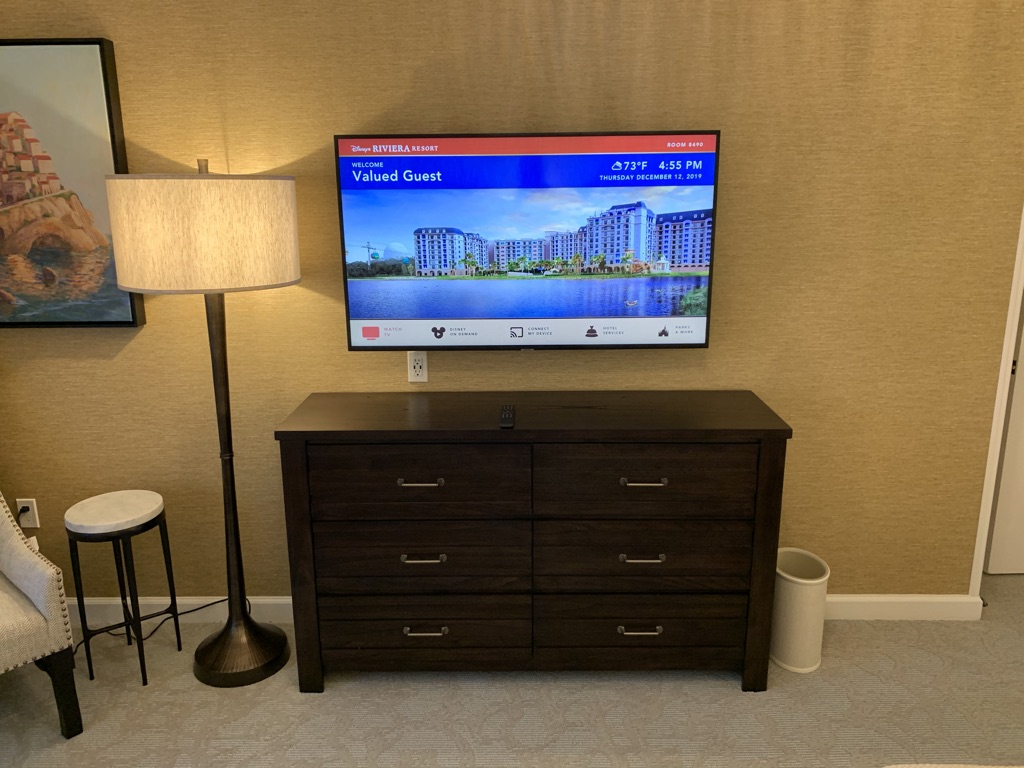 Dresser and flat panel TV
