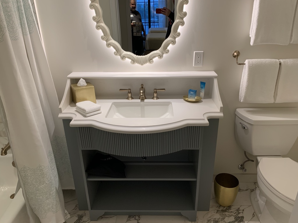 Second bathroom vanity and commode
