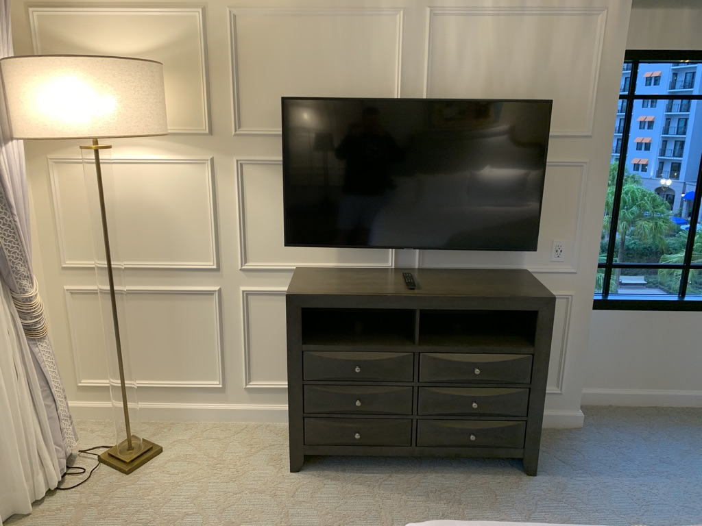 Third bedroom dresser and flat panel TV