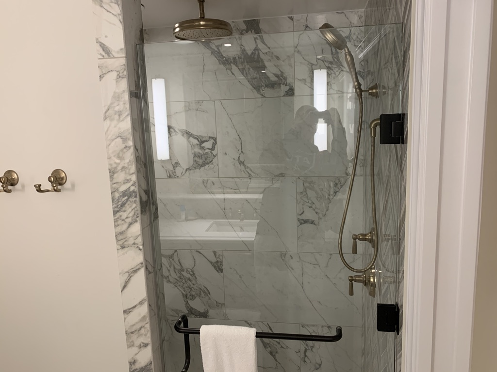 Third bathroom shower stall