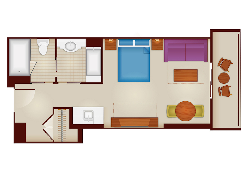 Deluxe Studio Floorplan