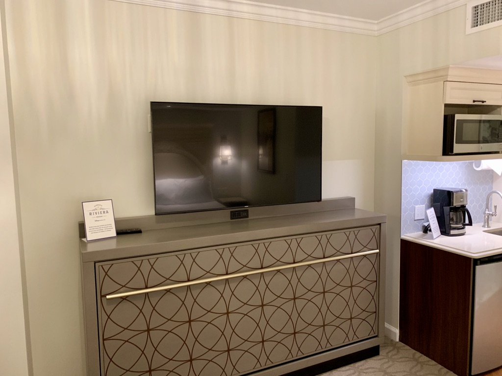 TV with twin-size Murphy bed below