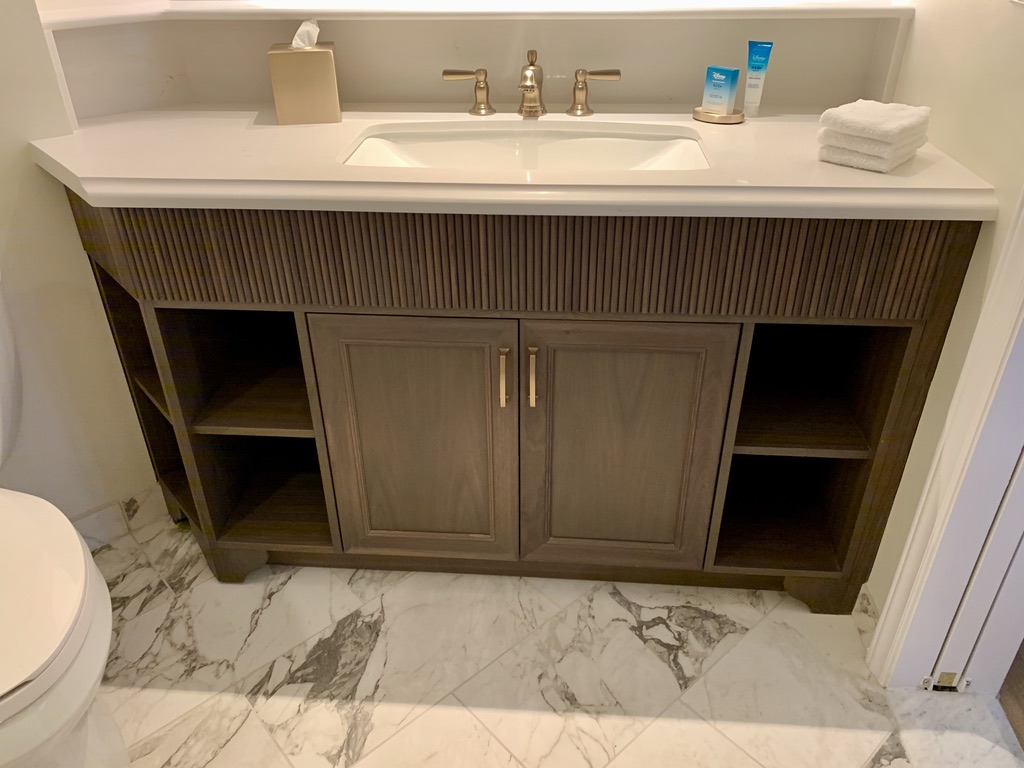Bathroom vanity and storage