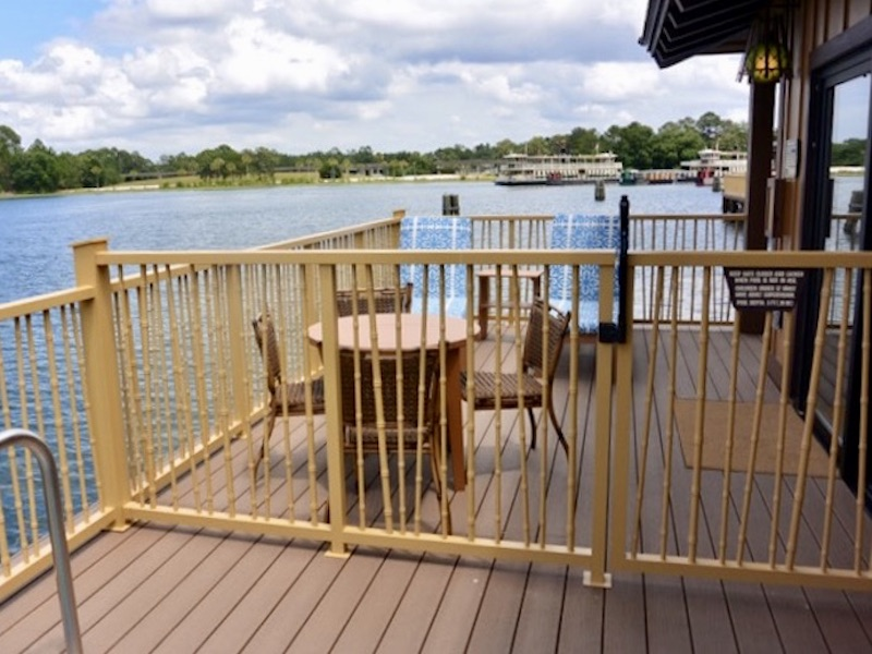 Gate separating plunge pool from rest of the deck