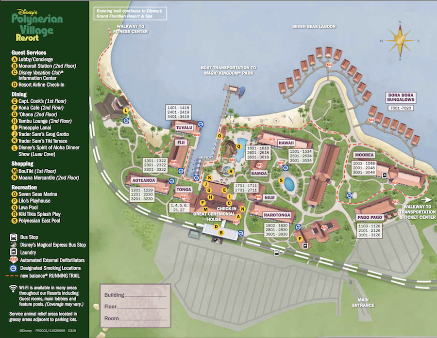 Poly Resort Map 2015